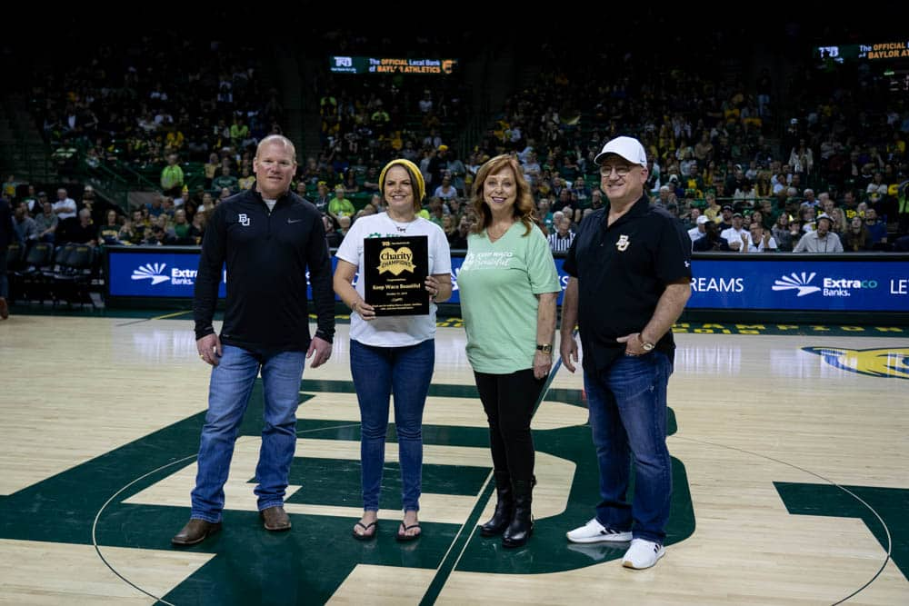 keep waco beautiful recognized at baylor game