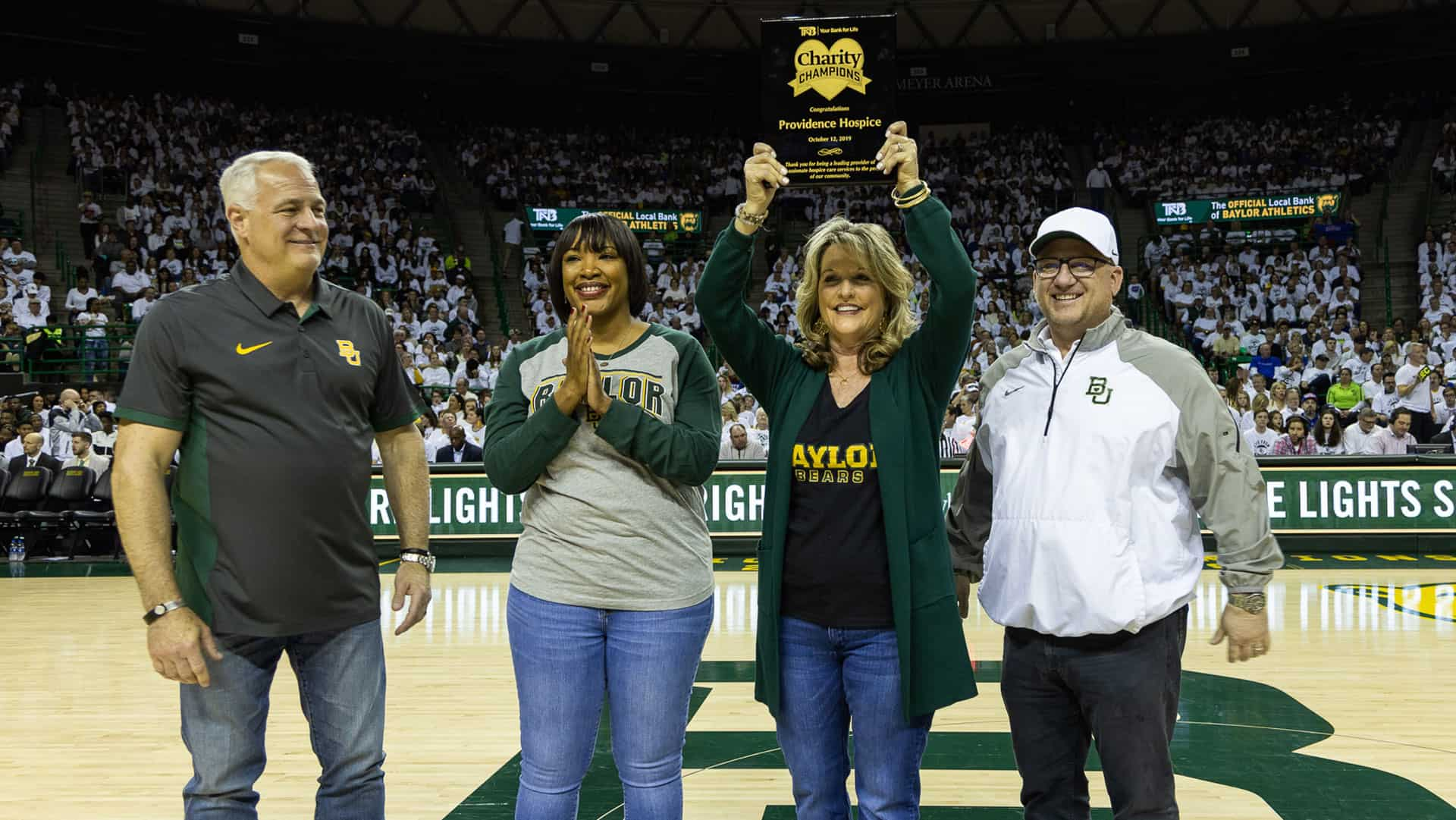 Community Healthcare of Texas recognized at Baylor Men's Basketball Game